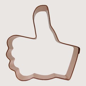 Thumbs-up cookie cutter image