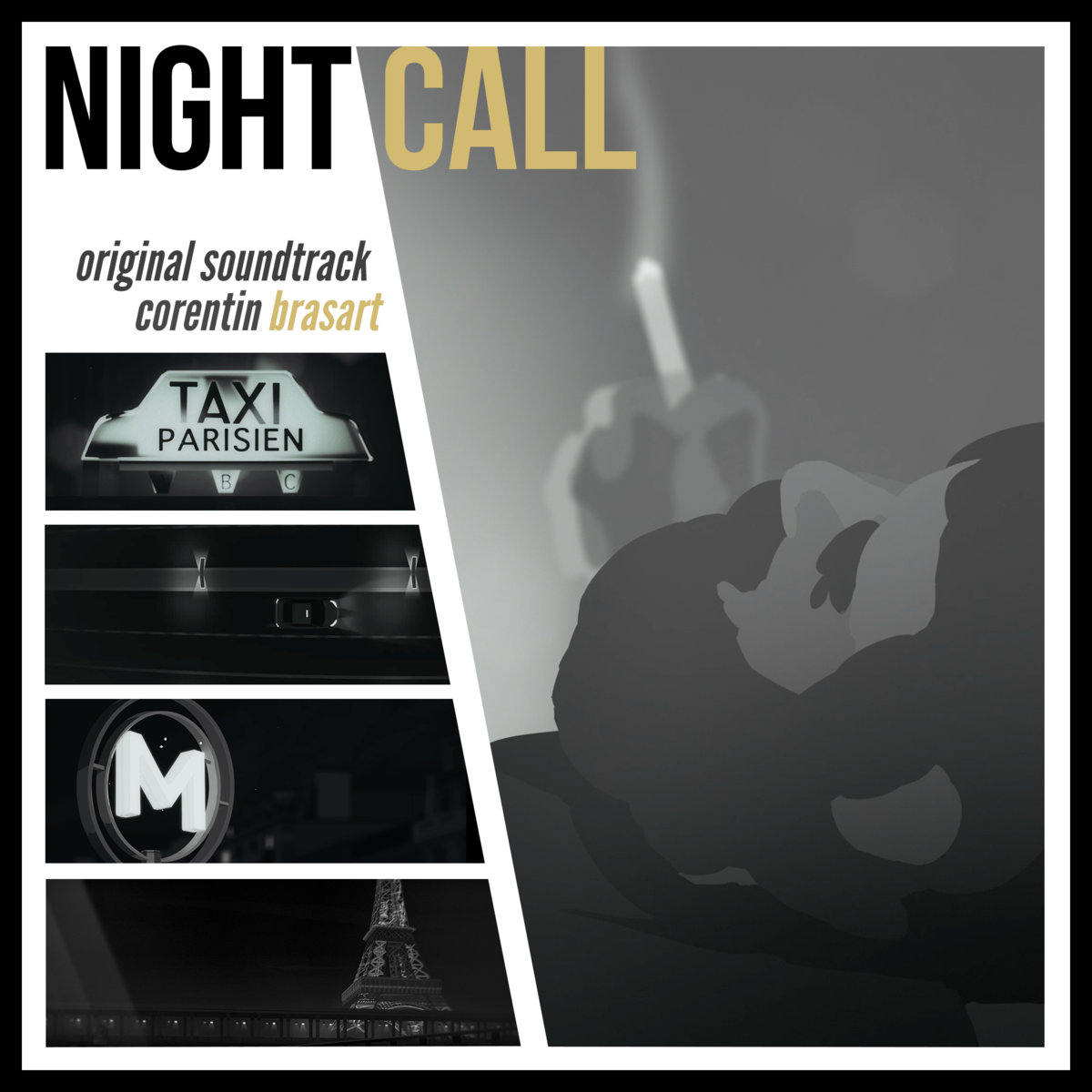 "Cover art for the soundtrack to new game, ""Night Call"""