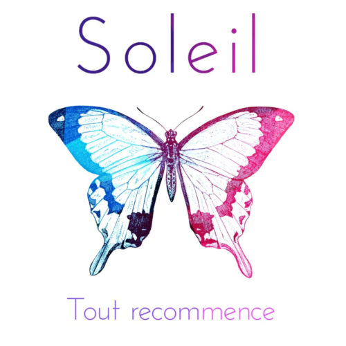 "Cover art for ""Tout Recommence,"" the new EP by Montreal French pop duo, Soleil"