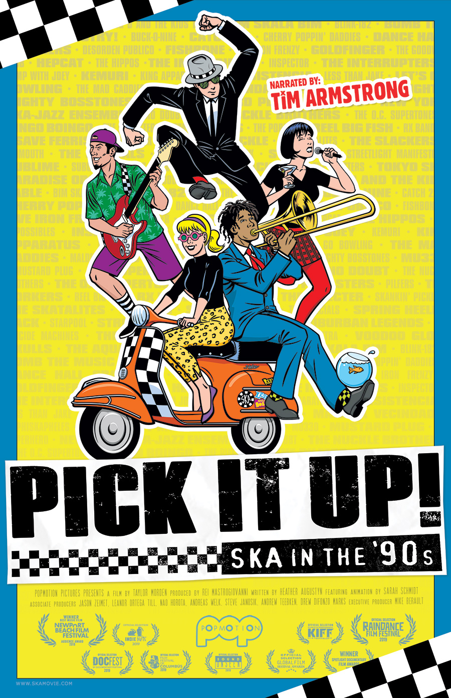 "Promotional poster for ""Pick It Up: Ska in the 90s"" music documentary"