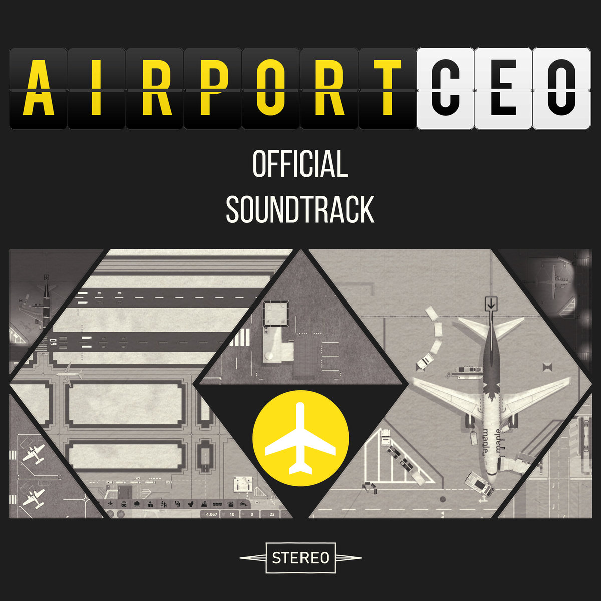 "Cover art the soundtrack to new Steam game, ""Airport CEO."""