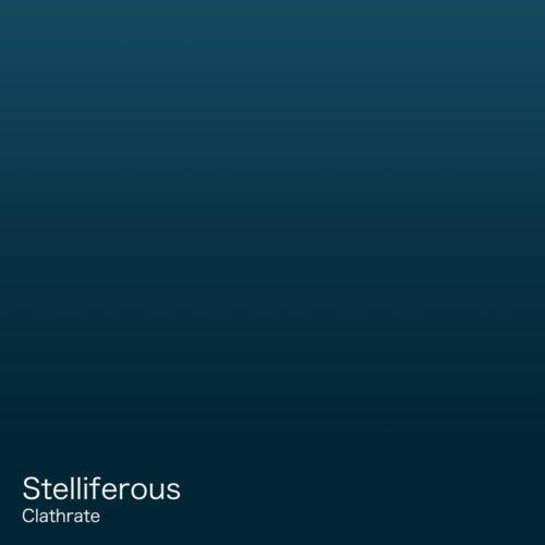 "Cover art for instrumental metal album, ""Clathrate,"" by Stelliferous"