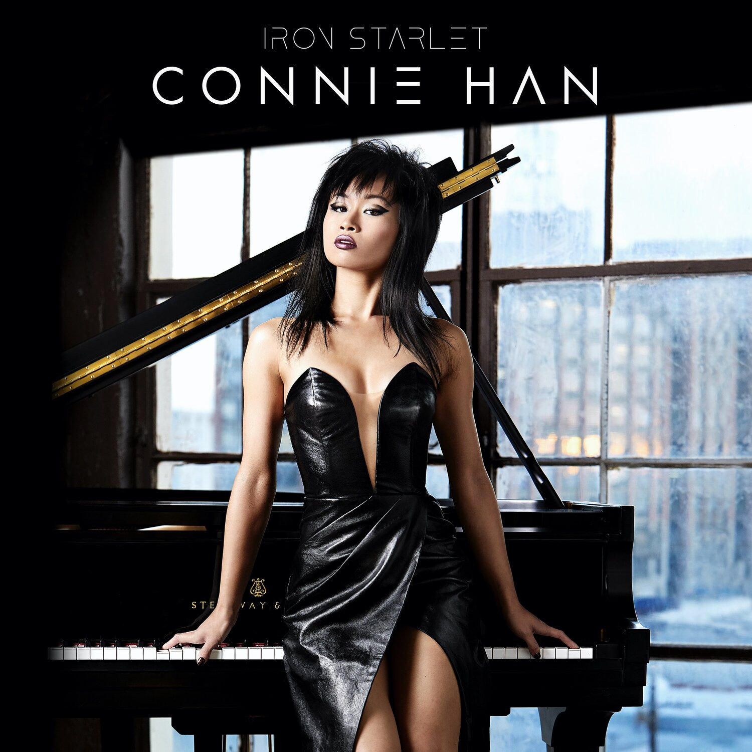 "Cover art for jazz pianist, Connie Han's second LP, ""Iron Starlet"""