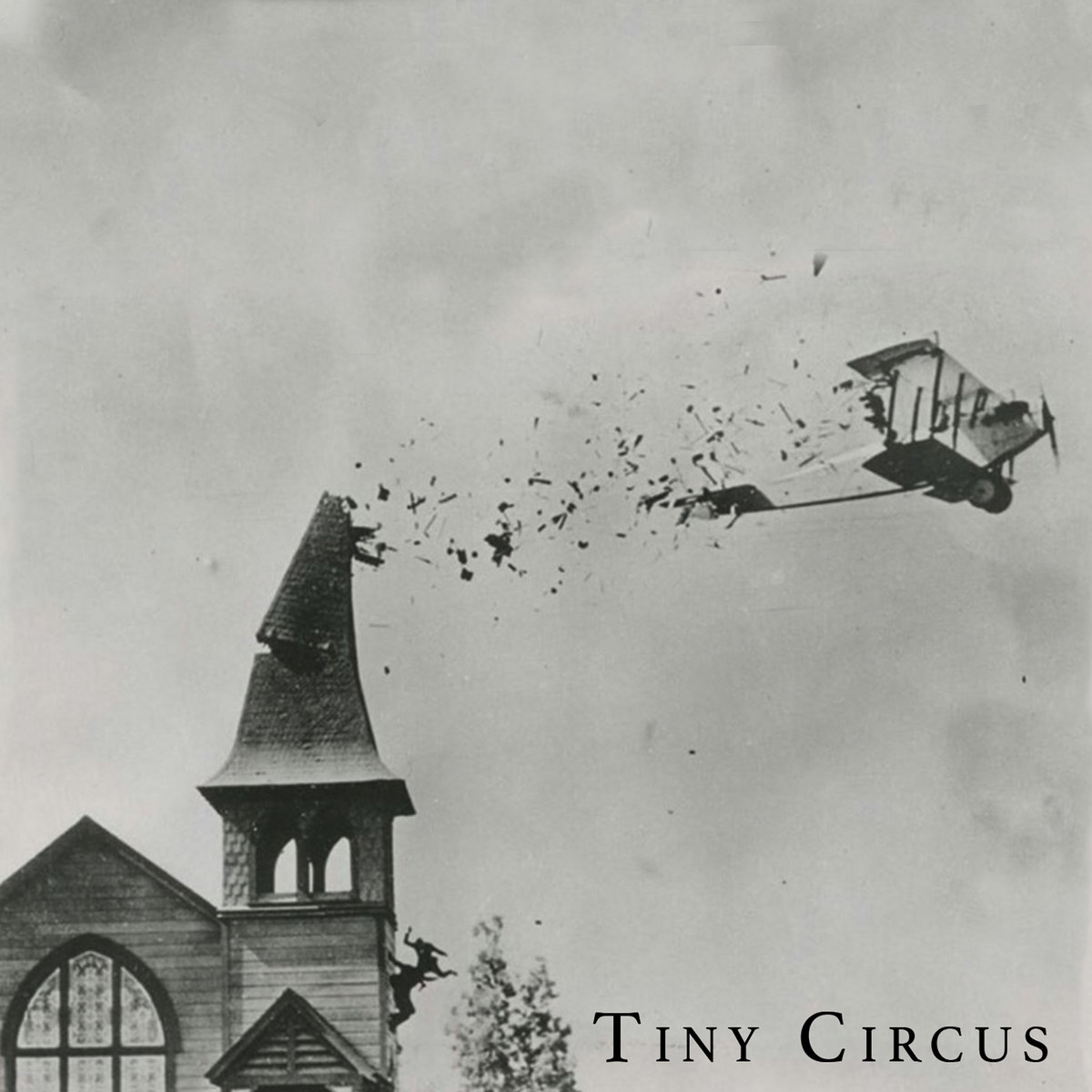 "Grey cover art for the album ""Tiny Circus"" by jazz artist Jonathan Bosquet"