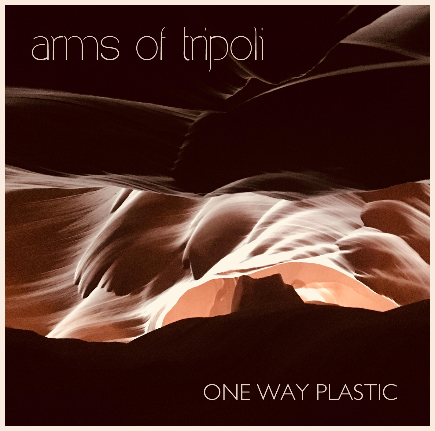 "Cover art for the album, ""One Way Plastic,"" by Arms of Tripoli"