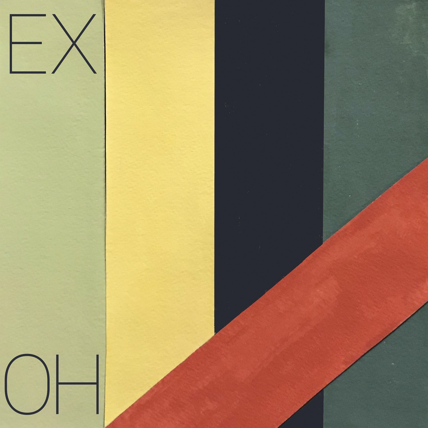 Multi-colored cover art for EX OH's new single / album