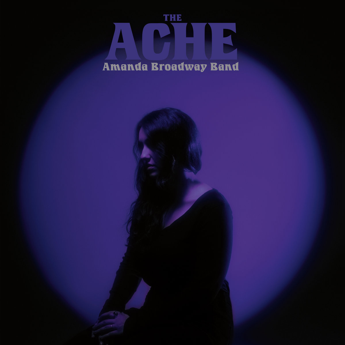 "Cover art for The Amanda Broadway Band's album, ""The Ache"""